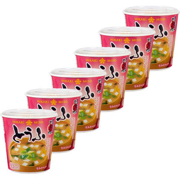 ひかり味噌 カップみそ汁とうふ 6個