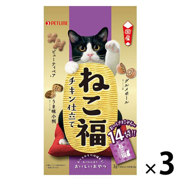 ねこ福 猫用 チキン仕立て  3袋