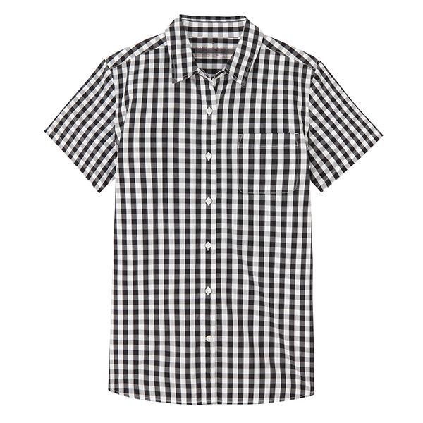 無印コットン洗いざらし半袖シャツ婦人 L