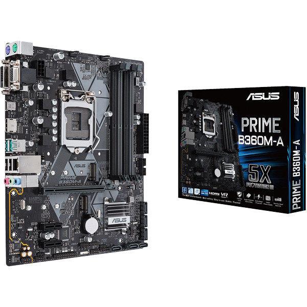ASUS PRIMEシリーズ Intel B360チップセット搭載 uATXマザーボード PRIME/B360M-A 1箱  (直送品)