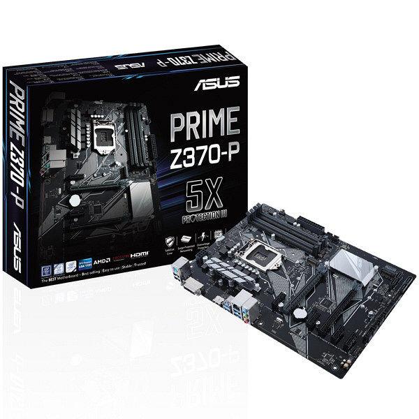 ASUS PRIMEシリーズ Intel Z370チップセット搭載 ATXマザーボード PRIME/Z370-P 1台  (直送品)