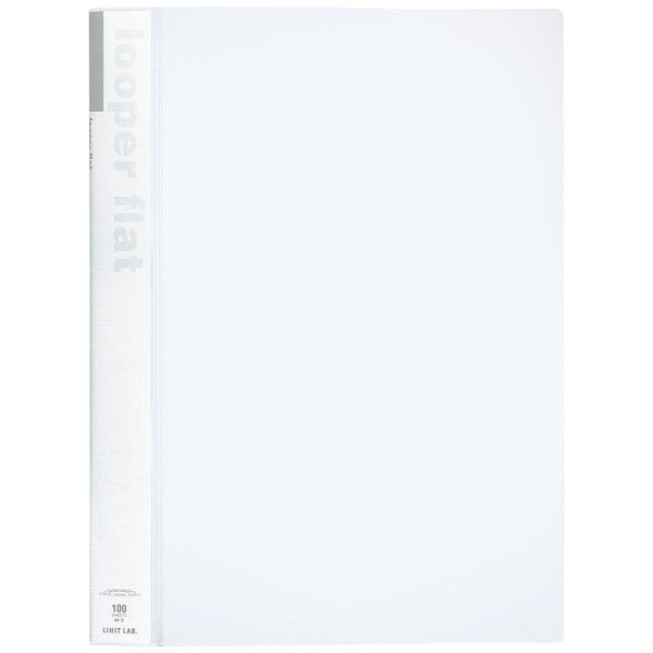 リヒトラブ ルーパーフラットファイル A4タテ 乳白 F52-1 1箱(25冊入)