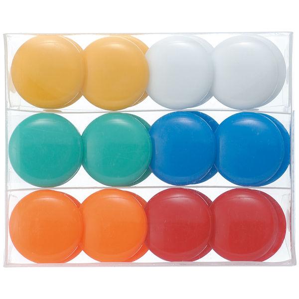 カラーマグネットボタン 24個入