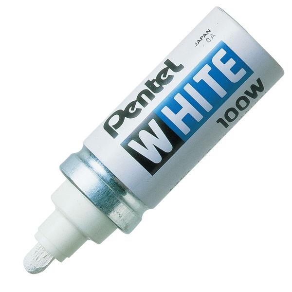 ぺんてる ホワイト 太字 白 X100-WD 1箱(10本入)