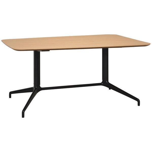 天板が台形形状の大型テーブル。モニター設置オプションを使えばTV会議も快適に。 ロータイプ