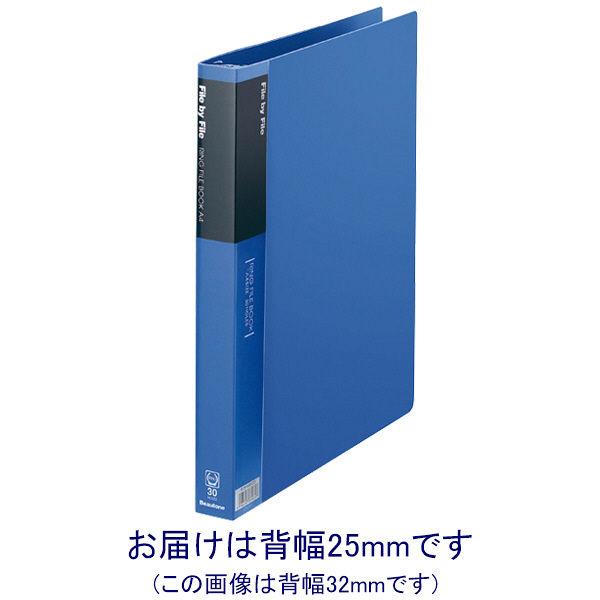 ビュートン リングファイルブック A4タテ 背幅25mm ブルー 業務用パック 1セット(12冊:6冊入×2箱)