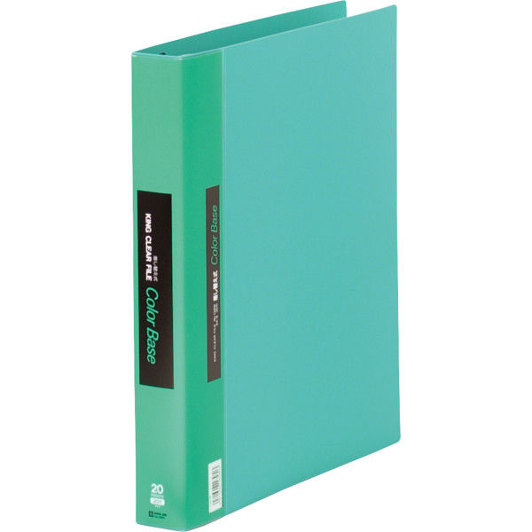 キングジム クリアファイル 差し替え式 20冊 A4タテ背幅40mm カラーベース 緑 139W