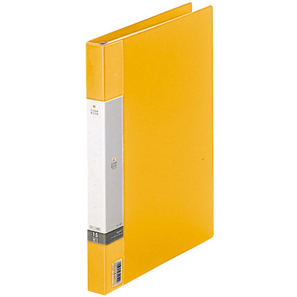 クリヤーブック 差し替え式 30穴 A4タテ 15ポケット 背幅2.5cm 3冊 黄 G3801-5 リヒトラブ