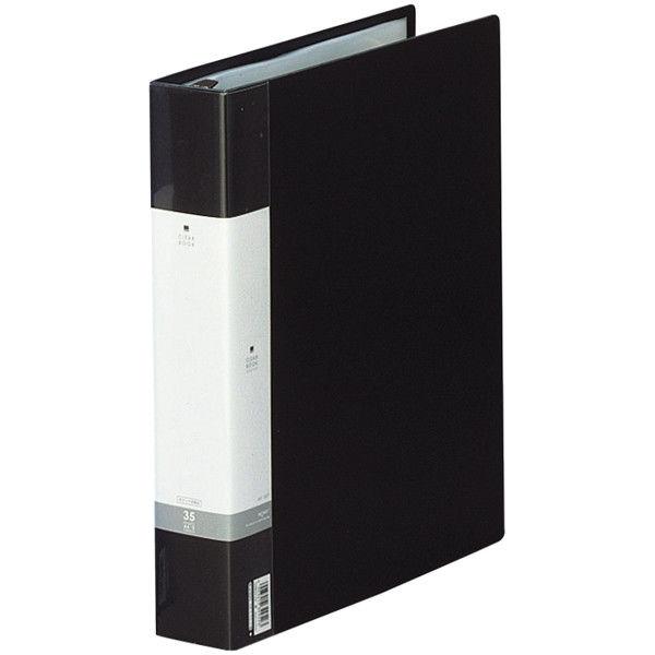 クリヤーブック 差し替え式 30穴 A4タテ 35ポケット 背幅5.0cm 12冊 黒 G3803-24 リヒトラブ
