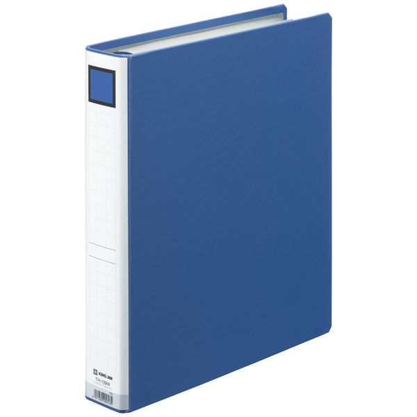 キングジム 差し替え式クリアーファイル(貼り表紙) 背幅52mm TH-139Wアオ 1箱(10冊入)