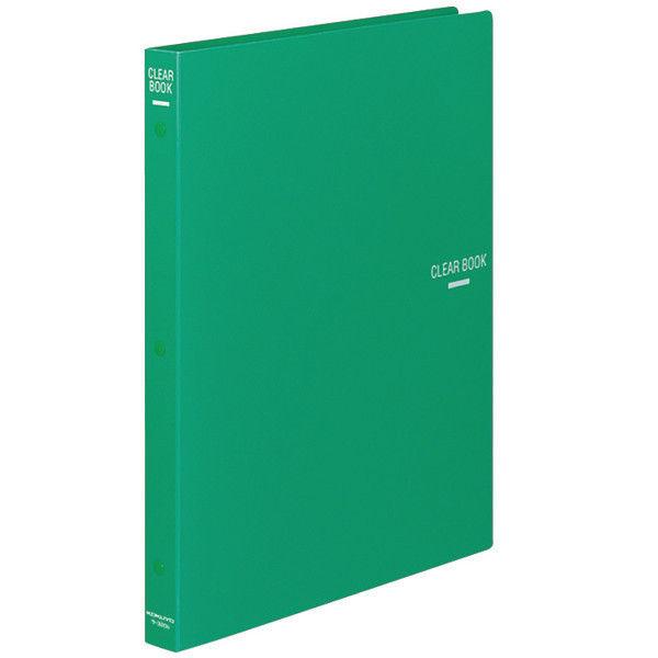 クリヤーブック30穴替紙式18P A4緑