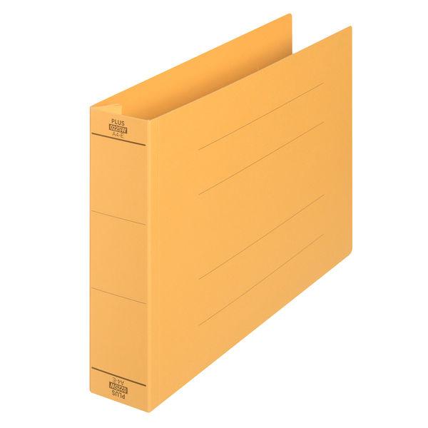 プラス フラットファイル厚とじ500 A4ヨコ イエロー 87997 1袋(10冊入)