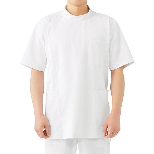 メンズケーシー 半袖 ホワイト L