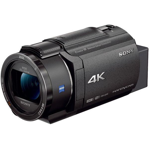 ソニー デジタル4Kビデオカメラレコーダー Handycam AX45 ブラック FDR-AX45/B 1台  (直送品)