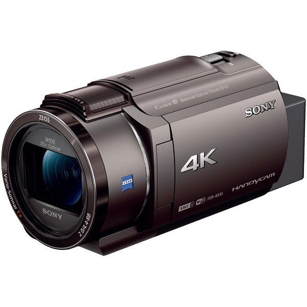 ソニー デジタル4Kビデオカメラレコーダー Handycam AX45 ブロンズブラウン FDR-AX45/TI 1台  (直送品)