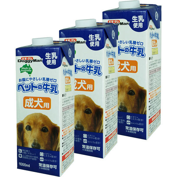 ドギーマンペットの牛乳 成犬用 1L×3