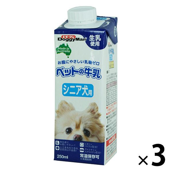 ドギーマンペットの牛乳 シニア犬用×3個