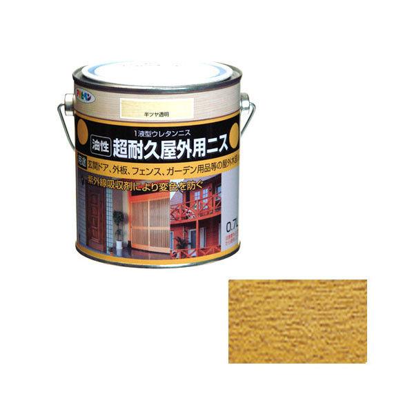 アサヒペン 超耐久屋外用ニス 0.7L 半ツヤ透明 9010389(直送品)