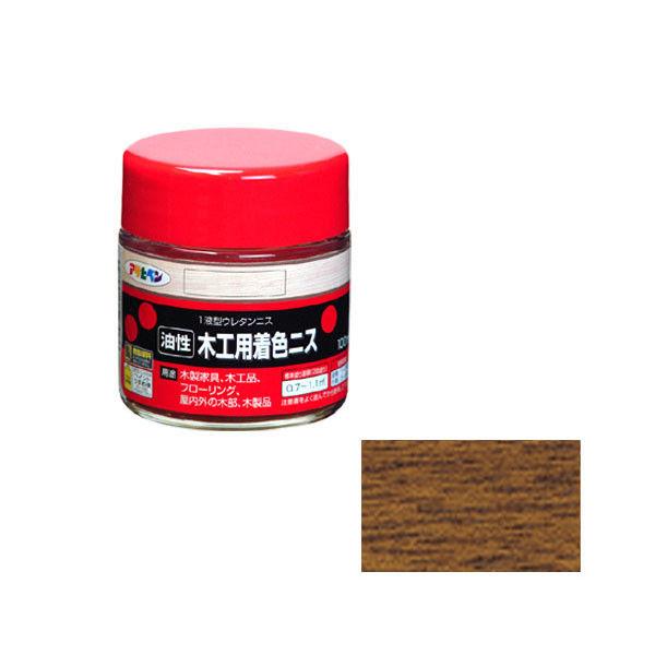 アサヒペン 木工用着色ニス 100ML ウォルナット 901336(直送品)