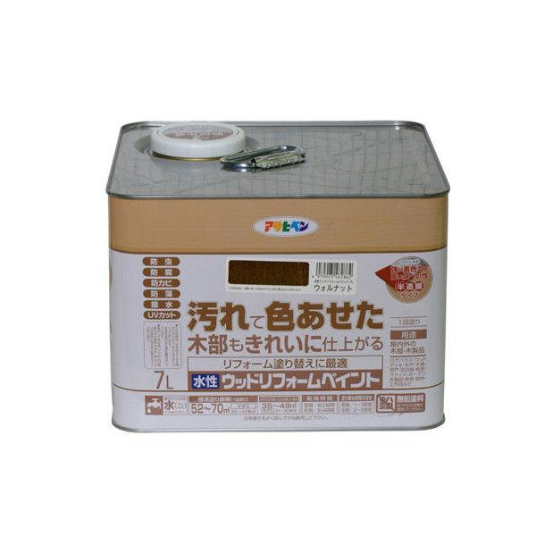 アサヒペン 水性ウッドリフォームペイント 7L ウォルナット 9018140(直送品)