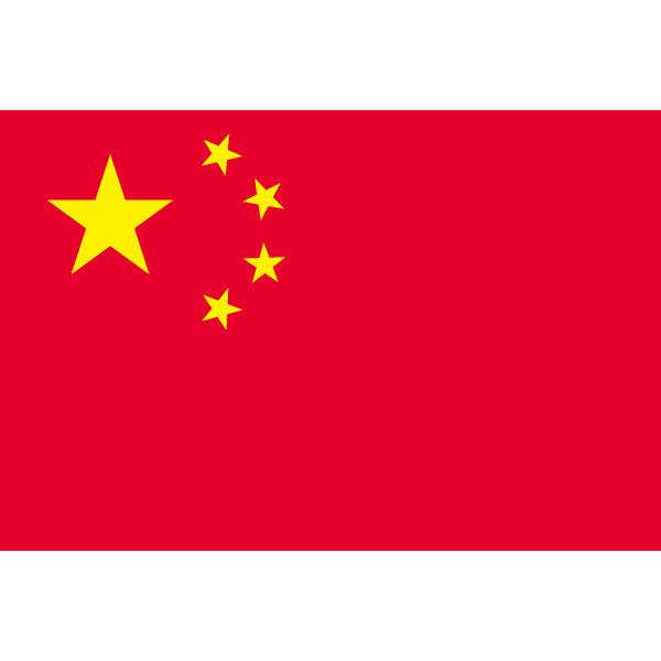アスクル】東京製旗 中華人民共和国(中国)国旗(卓上旗16×24cm ...