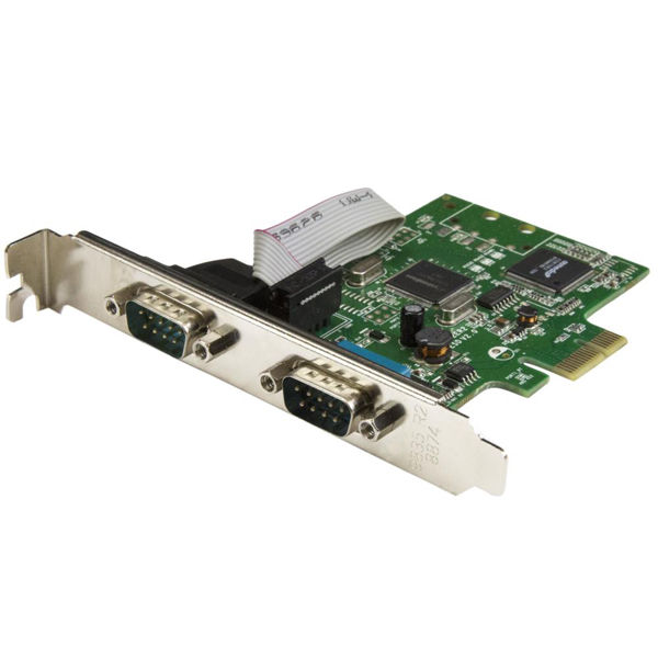 StarTech.com シリアル2ポート増設PCIeカード 16C1050 UART PEX2S1050(直送品)