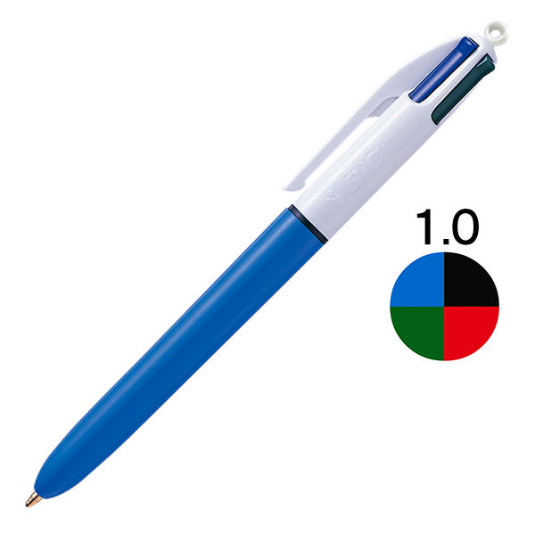 4色ボールペン 1.0 青 BIC