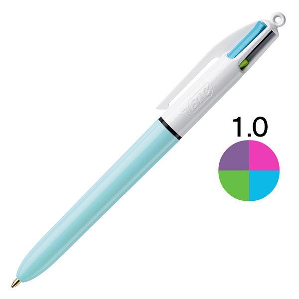4色ボールペン 1.0 ブルー BIC