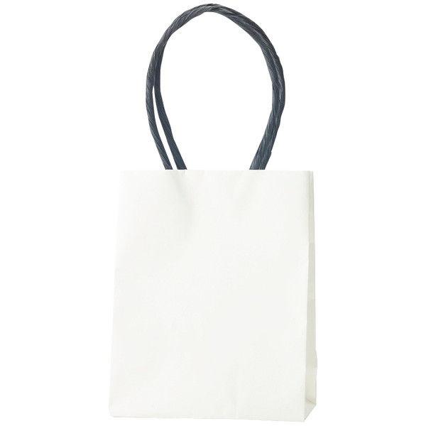 プチ紙手提げ袋 白 12-6.5 10枚