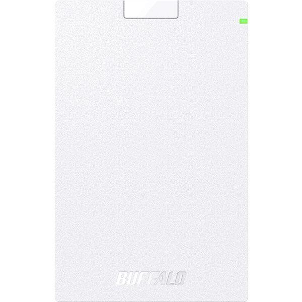 ミニステーション USB3.1(Gen.1)対応 ポータブルHDD スタンダードモデル ホワイト 1TB HD-PCG1.0U3-BWA  (直送品)