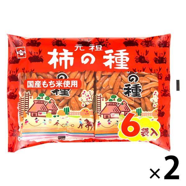 浪花屋 元祖柿の種6袋パック 2袋