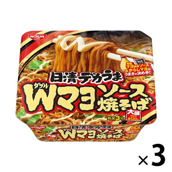 日清デカうま Wマヨソース焼そば 3個