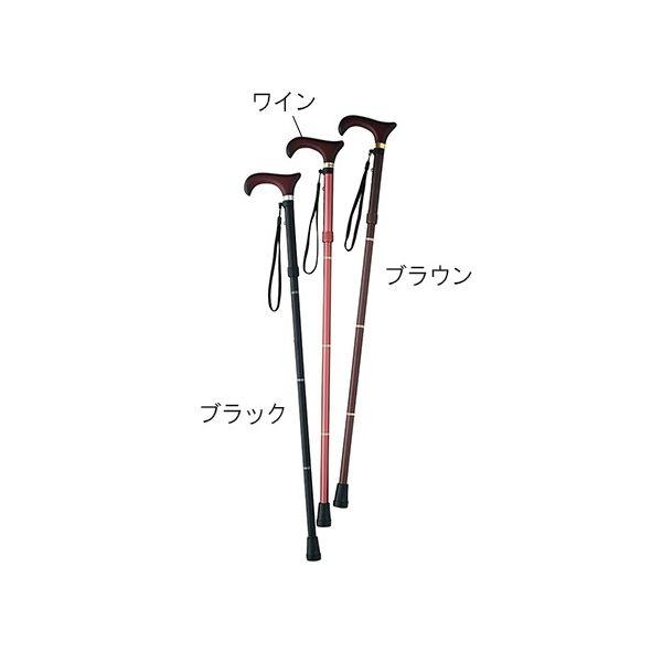 カインドウェア(KINDWARE) 折りたたみ杖 ブラウンL CH233703C06 1本 7-1983-02(直送品)