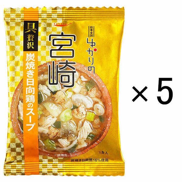 ゆかりの 宮崎 炭焼き日向鶏スープ 5個