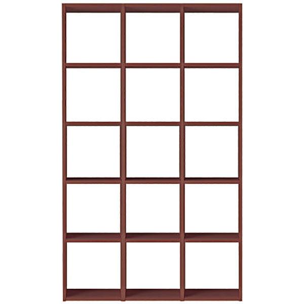 無印良品 スタッキングシェルフセット・5段×3列・ウォールナット材