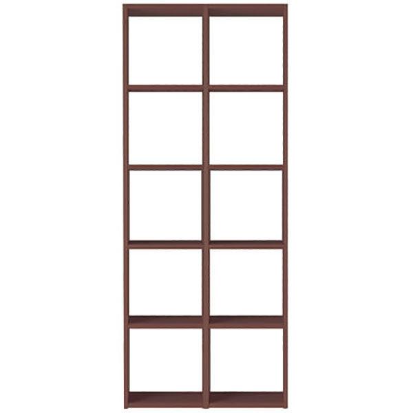 無印良品 スタッキングシェルフセット・5段×2列・ウォールナット材