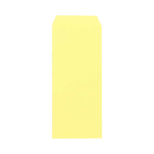 ムトウユニパック カラー封筒 長4 クリーム 枠なし 70g/m2 1箱(1000枚) (直送品)