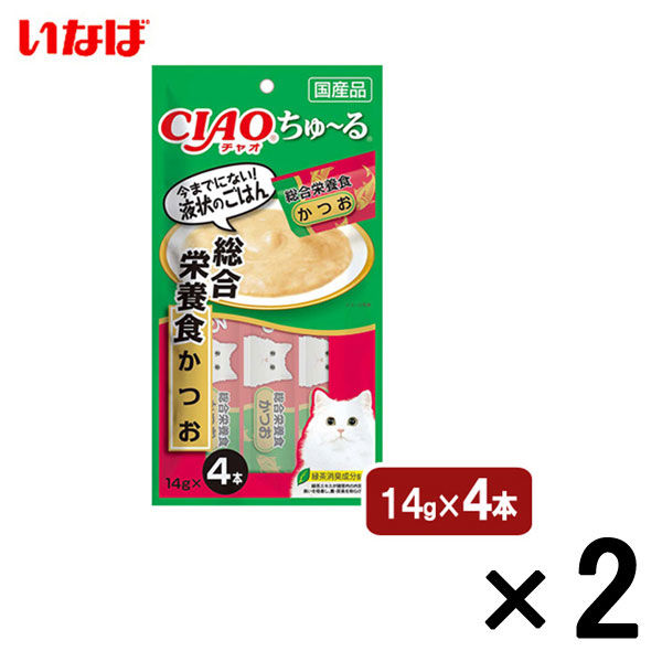 猫用 ちゅーる 総合栄養食 かつお 2袋