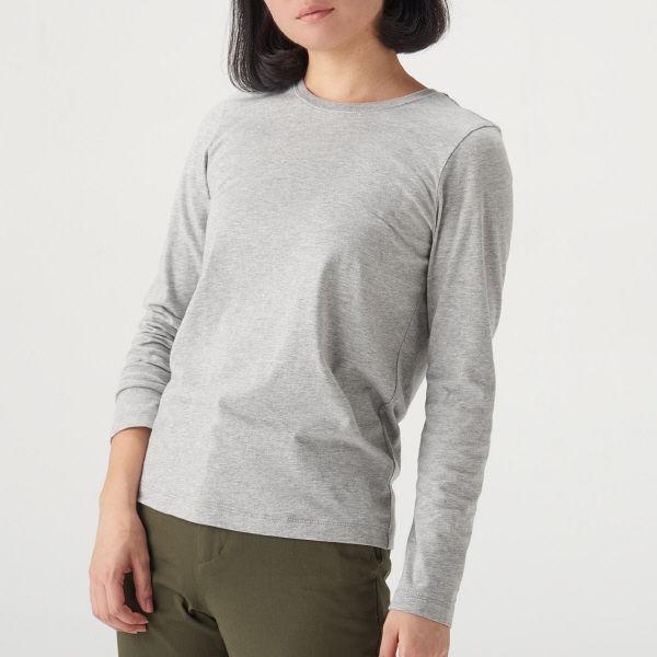 41fad29549efc LOHACO - 無印良品 オーガニックコットンクルーネック長袖Tシャツ 婦人 S ...