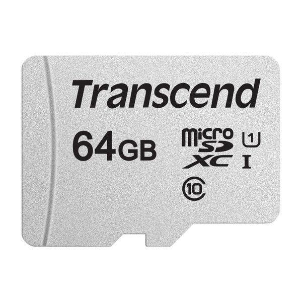 トランセンドジャパン 64GB UHS-I U1 microSD w/o Adapter (TLC) TS64GUSD300S 1個(直送品)