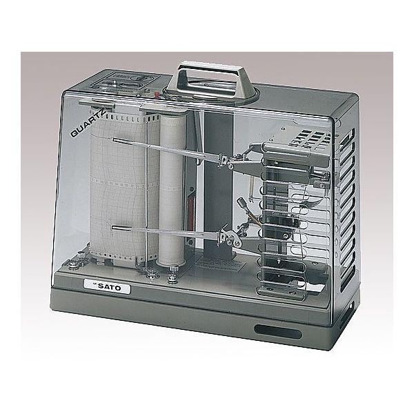 佐藤計量器製作所 温湿度記録計オーロラ90III型 校正書類付 62-0850-39 1式(直送品)