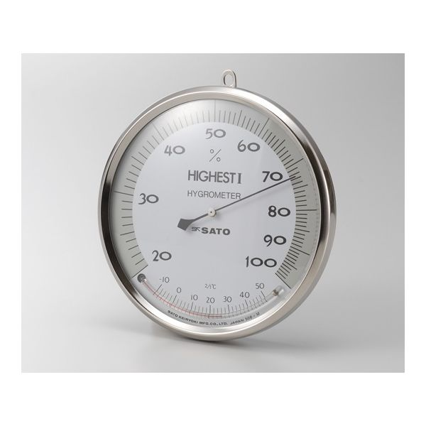 佐藤計量器製作所 ハイエストI型湿度計温度計付 150mm 校正書類付 62-0850-61 1式(直送品)