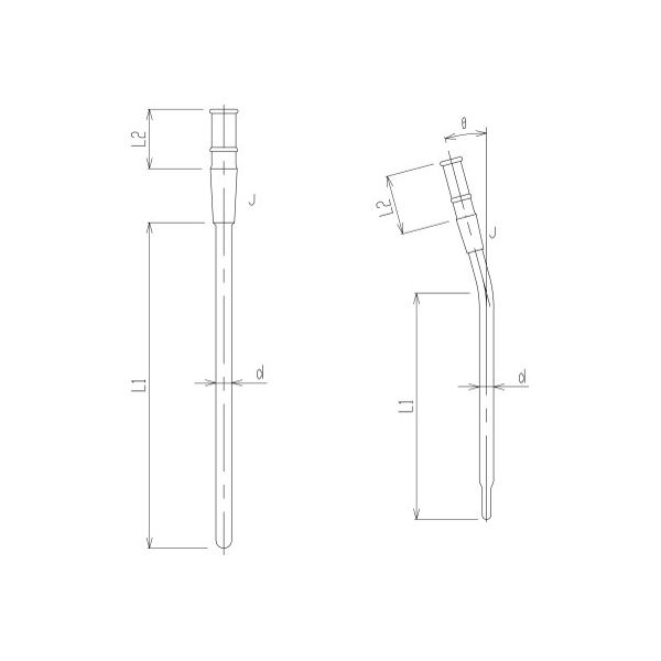 旭製作所 反応容器用温度計保護管 3380-0M-C-9 1個 62-2120-29(直送品)