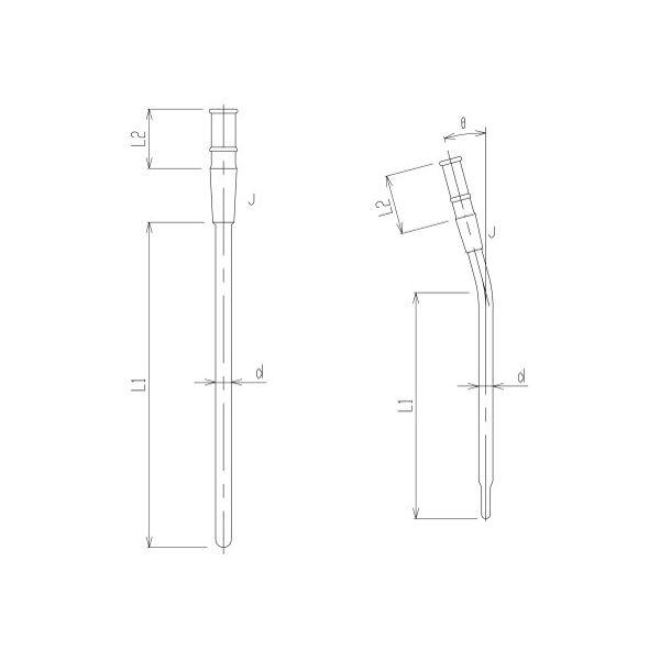 旭製作所 反応容器用温度計保護管 3380-4L-C-9 1個 62-2120-31(直送品)