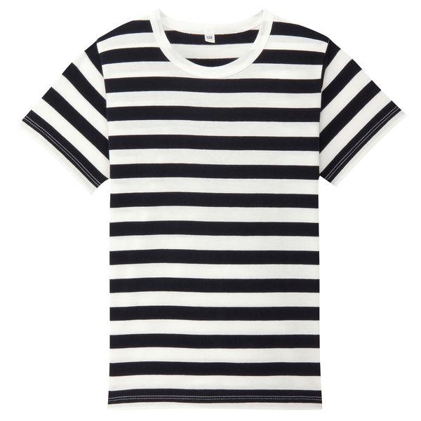 無印 しましま半袖Tシャツ キッズ120