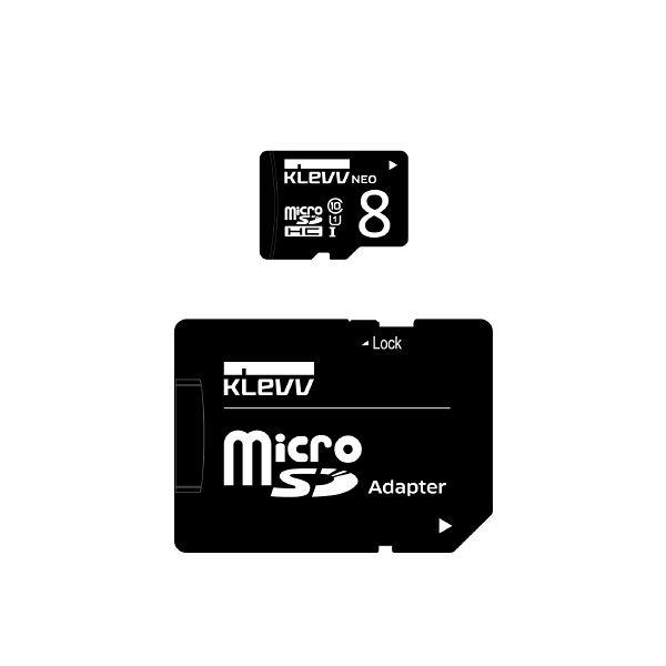 ESSENCORE microSDHCカード8GB UHS_I U1 U008GUC1U18-DK 1枚