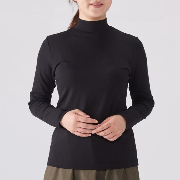 無印 ストレッチハイネックTシャツ婦人M