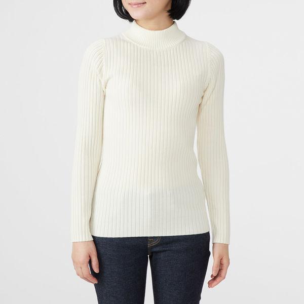 無印 ワイドリブ洗えるセーター 婦人 M