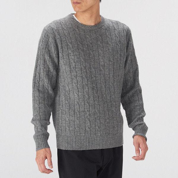 無印 メリノウールセーター 紳士 L