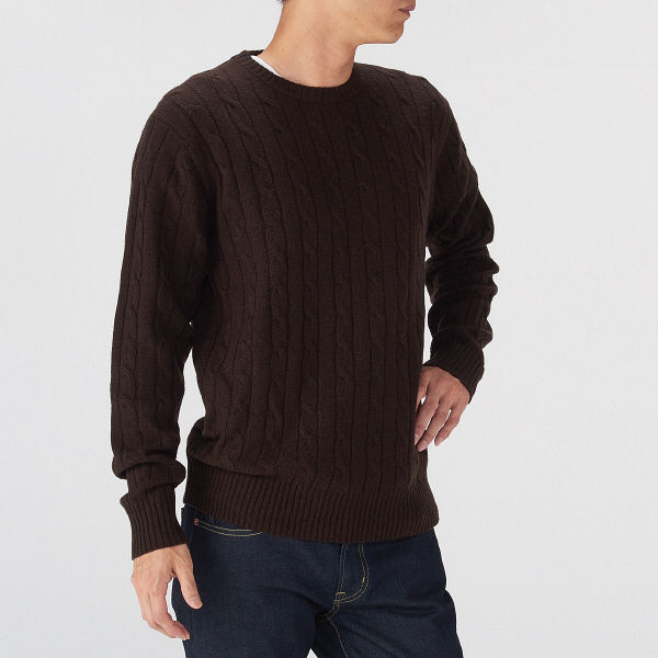 無印 メリノウールセーター 紳士 M